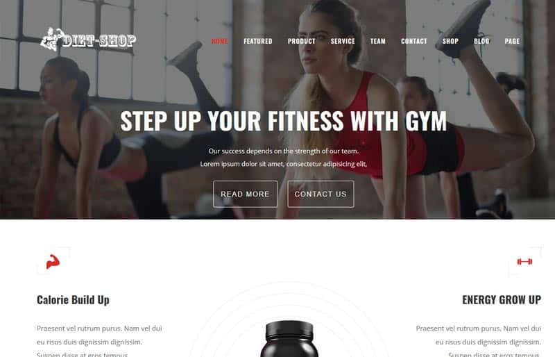 Diet-Shop Gym, Weight Loss & Health Supplement WordPress Theme