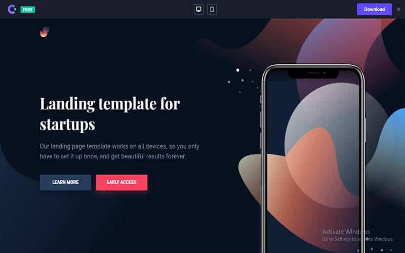 Laurel website for free templates