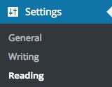 set up your homepage of wordpress