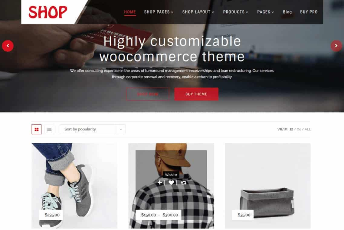Multipurpose wordpress Shop theme