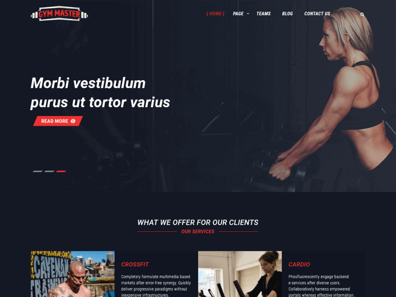 Screenshot Of Gym Master WordPress Theme