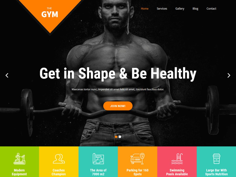 preview screenshot of SKT Gym WordPress theme