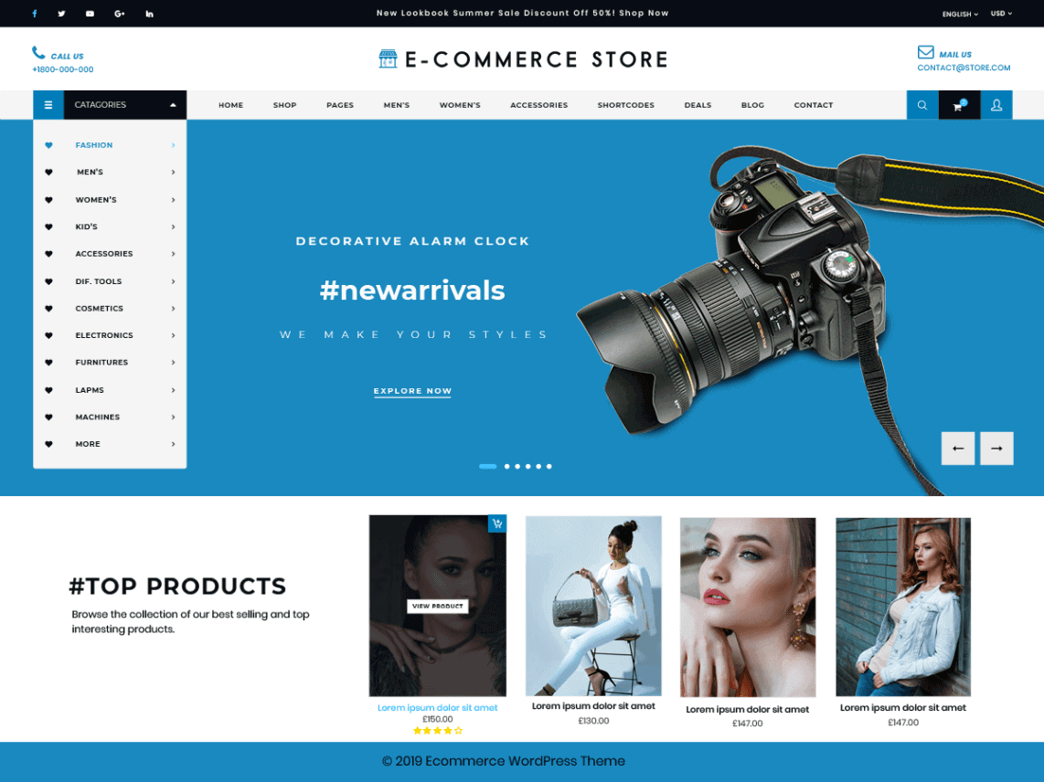 Preview screenshots of Ultimate Ecommerce Shop