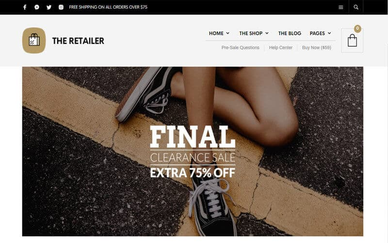 Preview screenshots of The Retailer - WooCommerce eCommerce WordPress Theme
