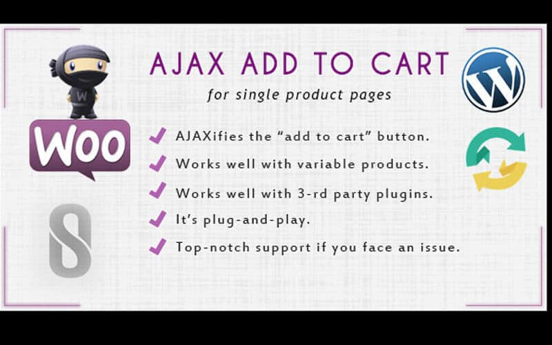 Preview screenshots of WooCommerce Ajax Add to Cart
