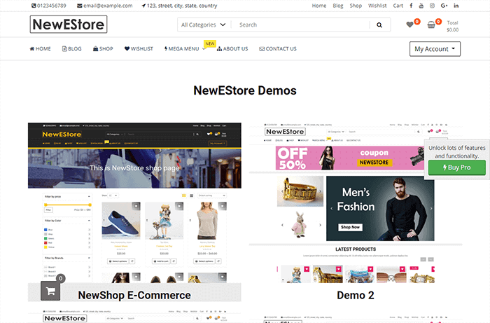NewStore WordPress Theme