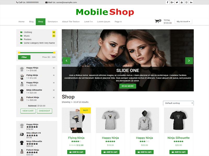 Mobile Shop by ThemeFarmer