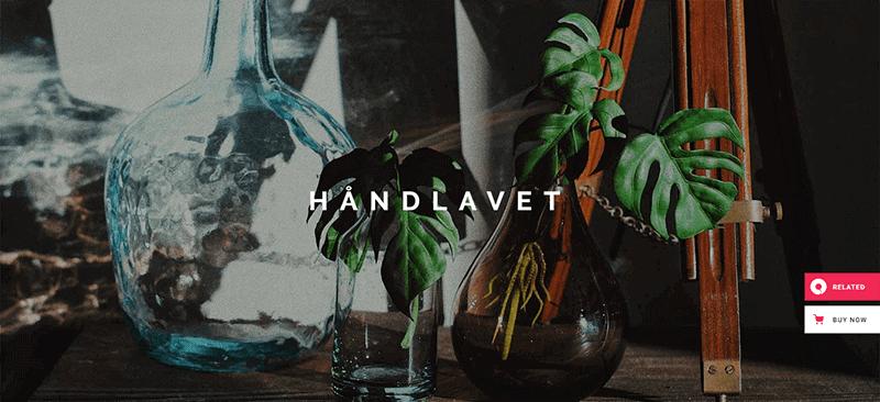 Preview screenshots of Håndlavet - Art and Home Decor Shop