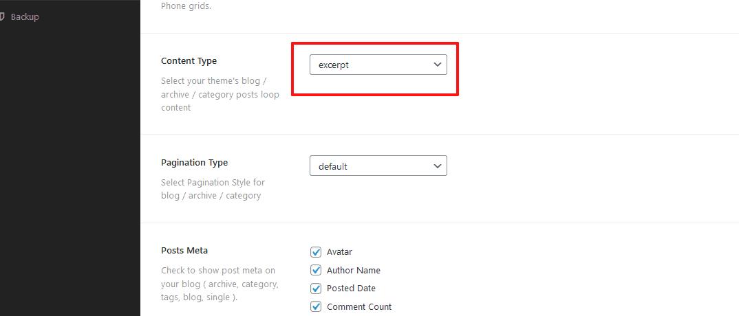 Post Content type
