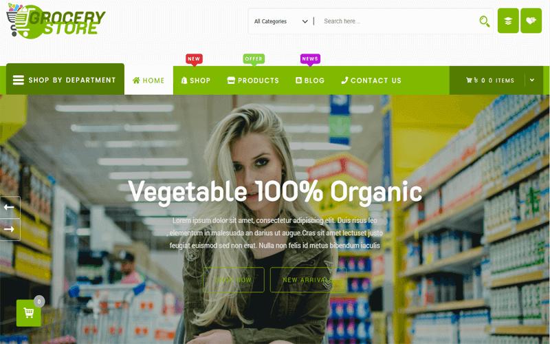 Screenshot for the WordPress templates of Grocery-Store WordPress WooCommerce Theme (Pro)
