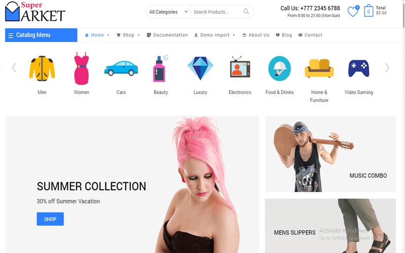 Screenshots for WordPress Shop theme of Supermarket Free Best Free Shopping, Store & eCommerce WordPress Theme