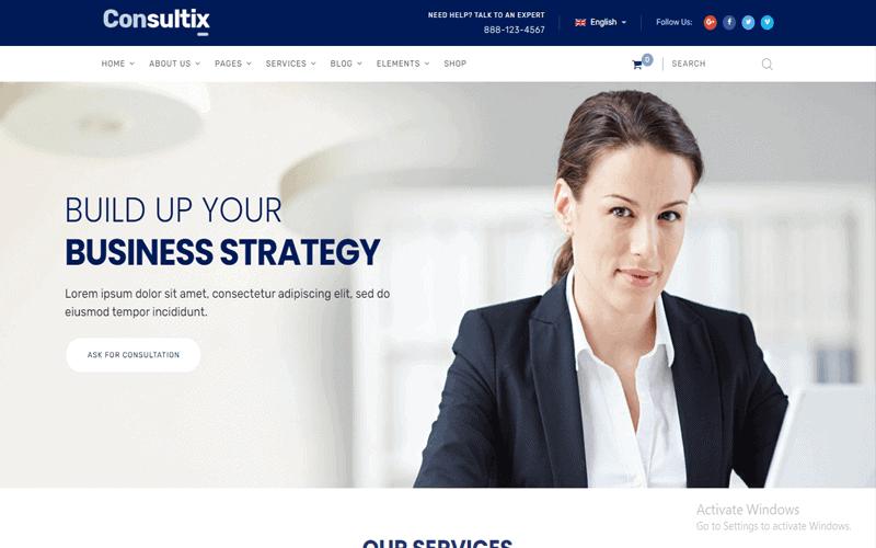 Image Of Consultix WordPress Theme