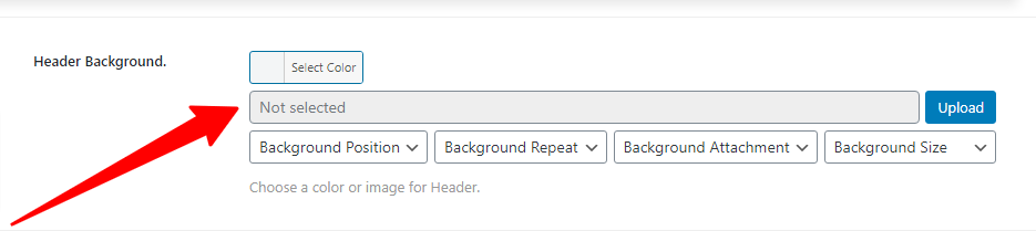 Changing the total header background