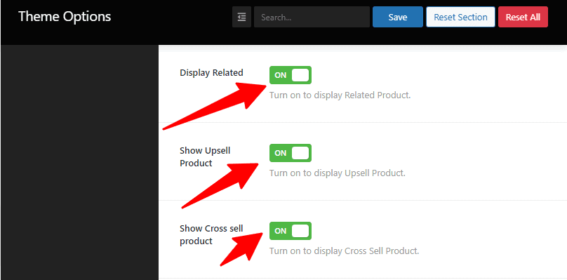 Display Related Show Upsell Product Show Cross sell product