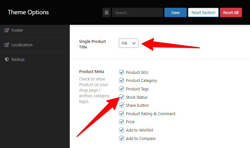 Single Product Title and Meta
