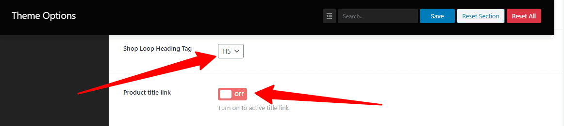 Change the title tag and link