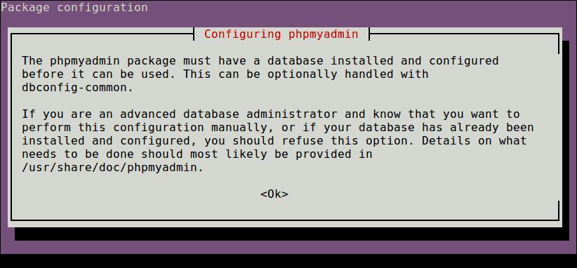 PhpMyAdmin Configuration