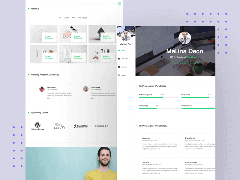 Arzot- CV / Resume / vCard Free HTML Template