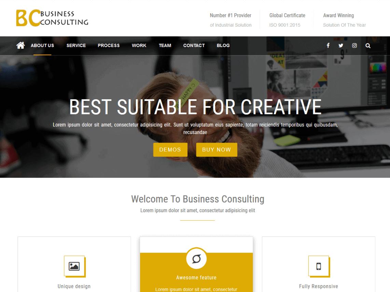BC – Flat Design WordPress Theme
