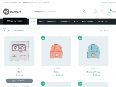 free ecommerce theme for wordpress