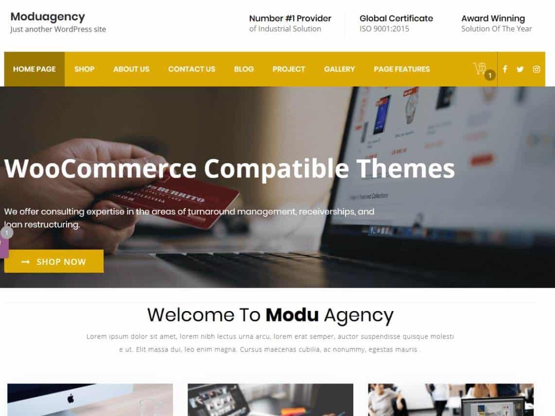 ModuAgency WooCommerce Compatible Multi Purpose theme