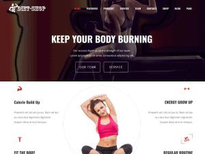 Diet Shop Free WordPress Gym Themes